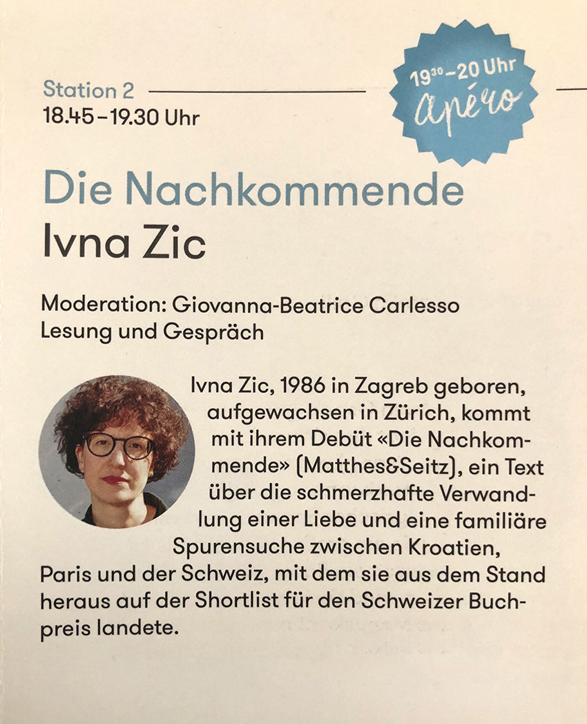 Ivna Zic im Literaturhaus Stuttgart